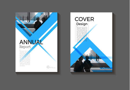 cover blue abstract background modern design modern book cover Brochure cover  template,annual report, magazine and flyer layout Vector a4 矢量图像