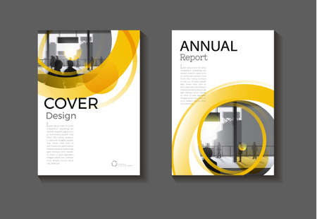 cover Yellow Circle  abstract background modern design modern book cover Brochure cover  template,annual report, magazine and flyer layout Vector a4
