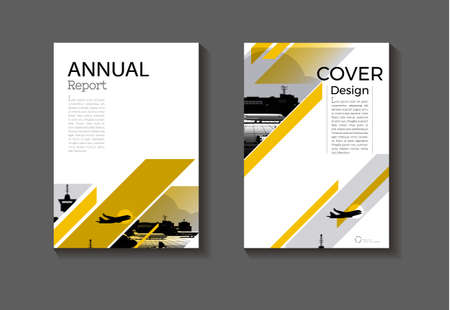 cover background Yellow abstract modern design modern book cover Brochure cover template,annual report, magazine and flyer layout Vector a4