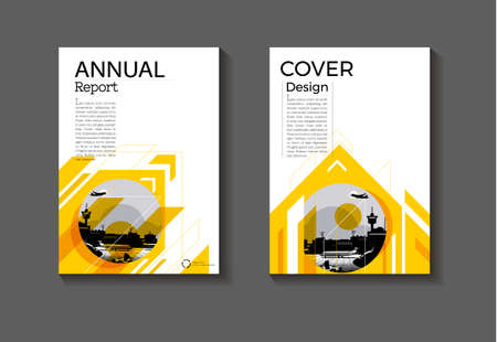 yellow abstract cover background modern design modern book cover Brochure cover  template,annual report, magazine and flyer layout Vector a4
