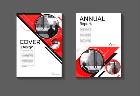 cover red abstract background modern design modern book cover Brochure cover  template,annual report, magazine and flyer layout Vector a4