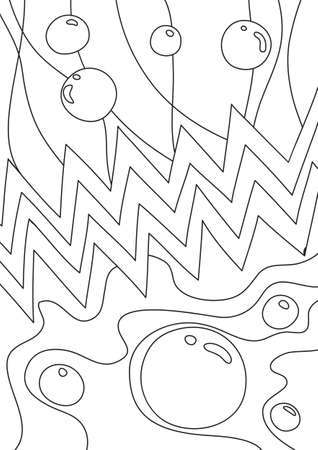 coloring book Abstract Bubble cute line art hand drawn artwork vector illustration a4 向量圖像
