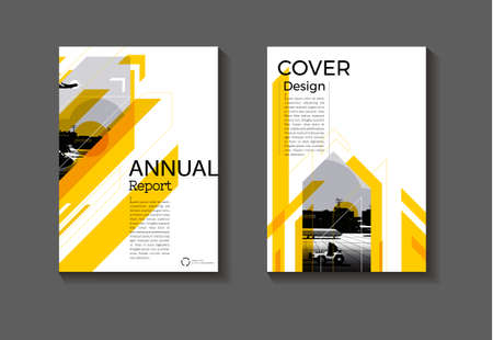 cover Yellow Brochure   background abstract modern design modern book cover cover  template,annual report, magazine and flyer layout Vector a4