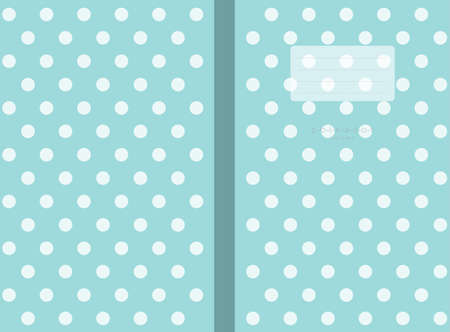polka dots small lined Polka dot Notebook cover  Travel Journal sized 6 x 9 in for120 pages