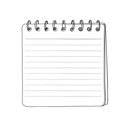 mini notebook hand drawn line art vector illustration 向量圖像