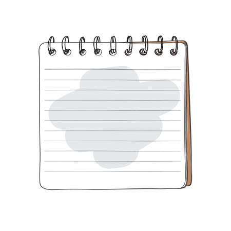 notebook brown cover hand drawn art vector illustration 向量圖像