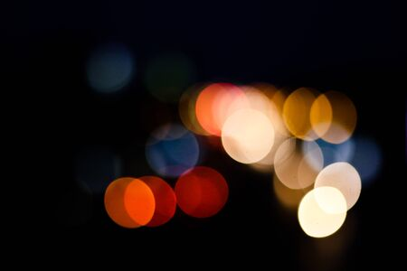 glimmer: Bokeh abstract defocused city on street Stock Photo
