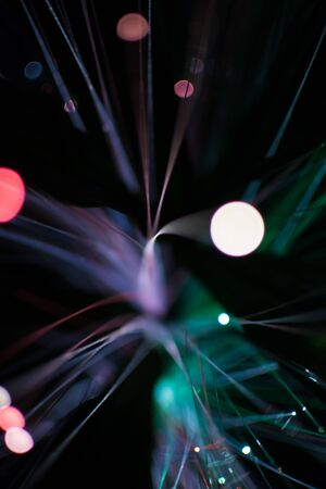 de focused: Colorful bokeh light celebrate at night, defocus light abstract background.