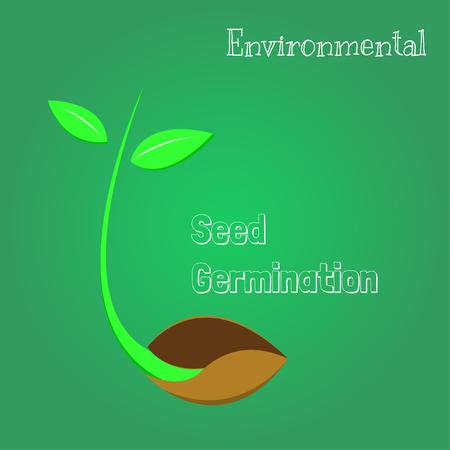 Zaden zijn ontkiemend, milieu-symbool