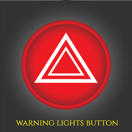 panels: Warning lights button in car Stock Photo