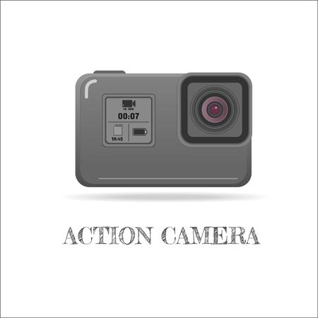 Action extreme camera vector symbol, ESP10 Stock Photo