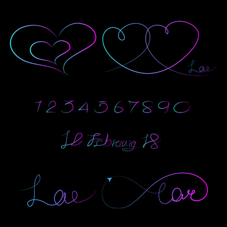 lined pattern love infinity, Valentine day