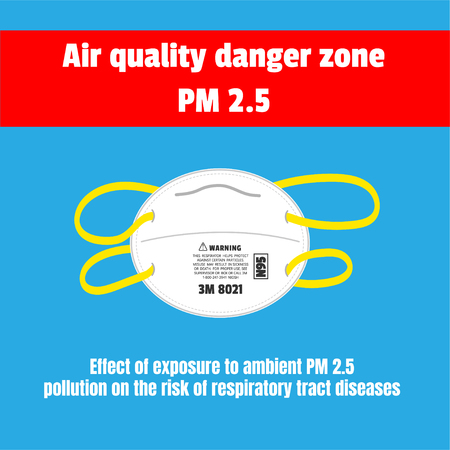 Protective mask for air quality danger zone