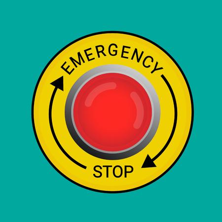 Pulsante di arresto di emergenza Illustrazione Eps 10.
