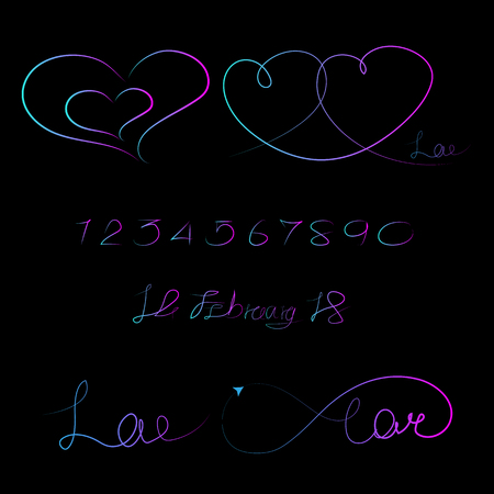 Lined pattern love infinity, Valentine day illustration EPS 10.