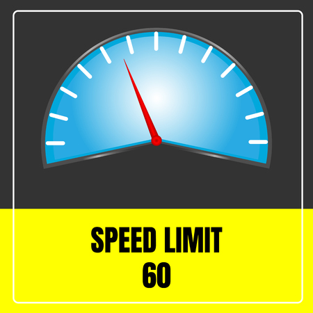 Speed limit sign vector use for transport.