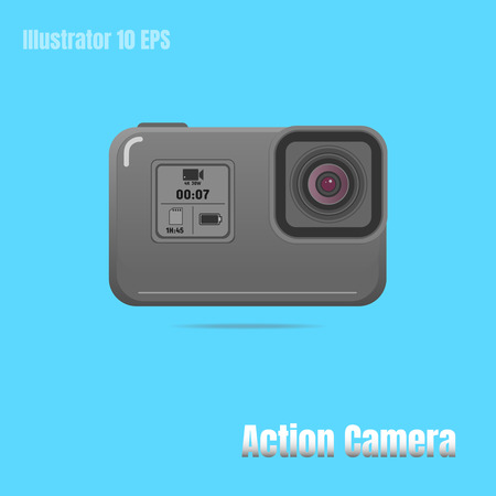 Action extreme camera vector symbol, EPS 10