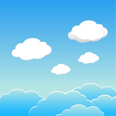 Ciel bleu avec nuages du jour. Vecteur EPS 10.