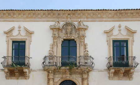 Style baroque Balconies Banque d'images - 405402