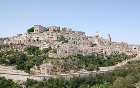 ragusa: Ibla is the old town of Ragusa, Sicily. Rebuilt after the 1693 earthquake in Sicilian baroque style. Many churches, two cathedrals and many steps. Stock Photo