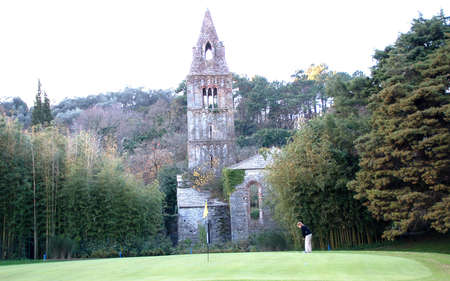 Rapallo golf course and the ruined Abbey of Valle Christi.