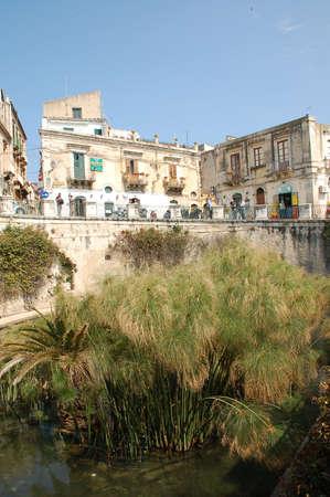 In de Griekse mythologie Artemis veranderd Arethusa een fontein in de buurt van Syracuse, Sicilië. Arethusa, een nimf, liep weg van een minnaar, Alpheus. Stockfoto