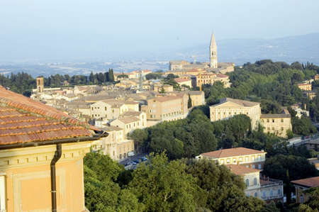 View of the city of Perugia, Italy.
