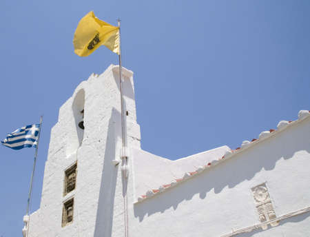 Orthodoxe Kirche in Lindos, Insel Rhodos.  Standard-Bild - 497342