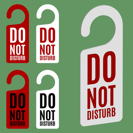 to disturb: Do not disturb door hanger in four variations