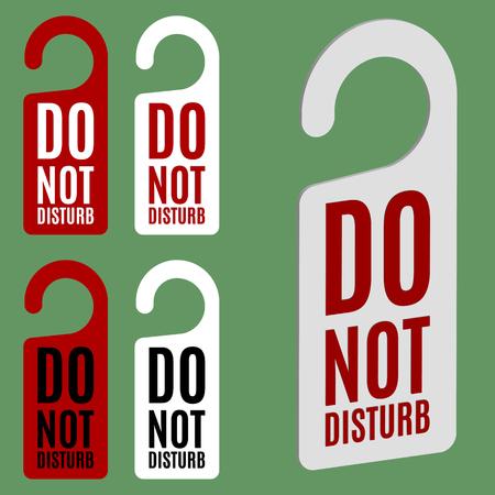 do not disturb: Do not disturb door hanger in four variations