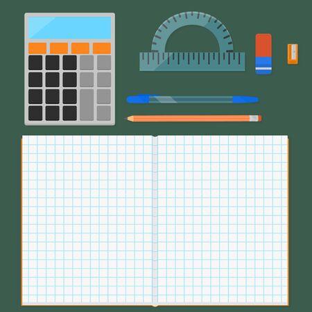 math icon: Set of stationery