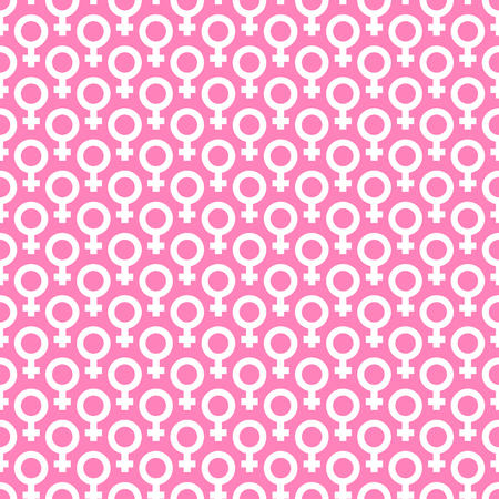 venus symbol: Seamless pattern with Venus symbol. Gender symbol. Illustration