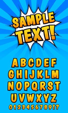 eps vector art: Pop art comics styled alphabet. Template, isolated, vector eps 10