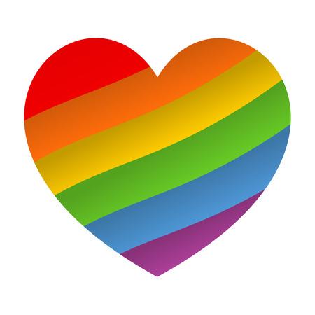 Rainbow heart icon. LGBT flag, symbol. Vector eps 10 Illustration