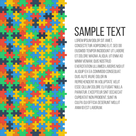 Colorful puzzle background . Place for your text. Vector, eps 10
