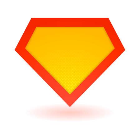 achievment: Superhero bright logo template. Vector isolated eps10