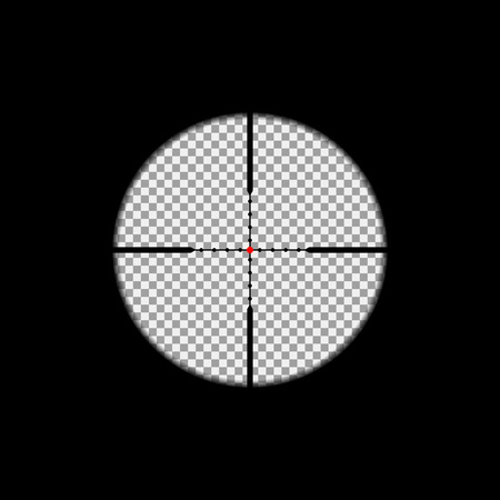 Scope: Sniper scope overlay on the transparent background. Vector, isolated, eps 10