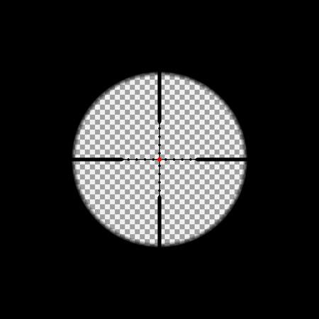 狙撃スコープは、透明な背景にオーバーレイします。ベクトル、分離、eps 10
