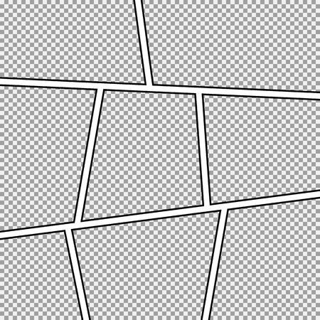 Comic strip background frame.Different panels.