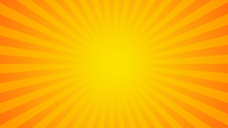 Bright orange rays background. Comics, pop art style. Vector