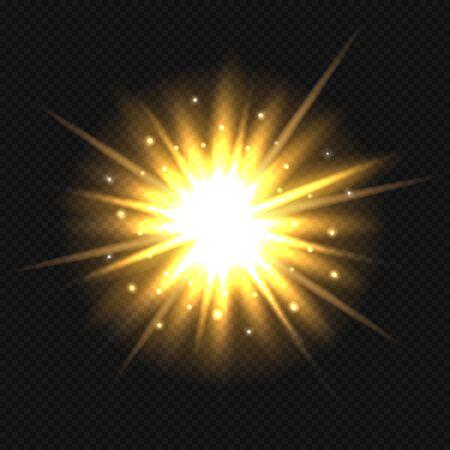 Bright orange star burst