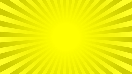 16 9: Bright yellow rays background with 16 9 aspect ratio. Comics, pop art style. Vector, eps 10. Illustration