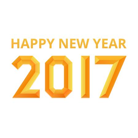 diagonal stripes: Happy new year 2017 poster.