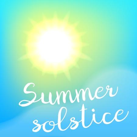 summer solstice: Summer solstice poster.