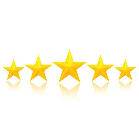 Vijf gouden sterren Stock Illustratie