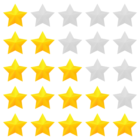 Golden stars rating