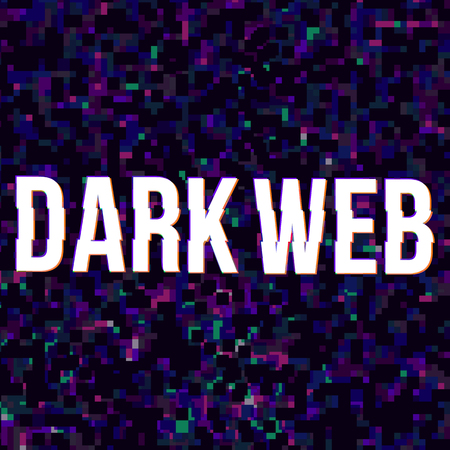Dark web at glitched background. Vector, eps 10