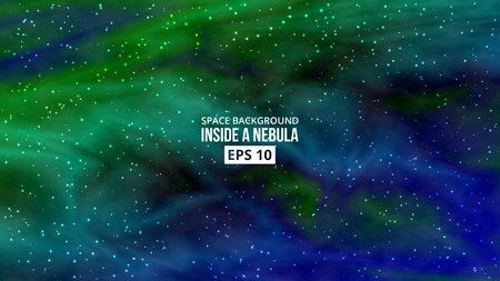 Colorful vivid background. Nebula with stars. Outer space. Vector eps 10 Ilustrace