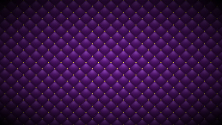 Quilted luxury background. Purple and gold. Widescreen wallpaper. Vector eps 10