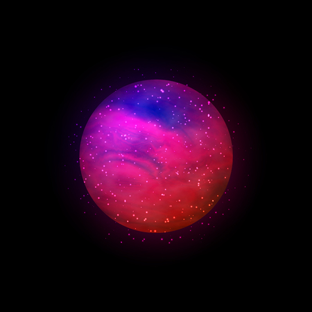 Sphere with outer space inside. Full of stars. Vector, eps 10  イラスト・ベクター素材